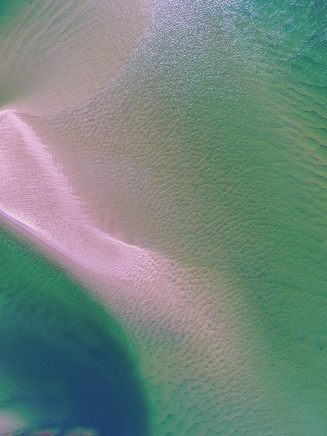 Aerial view of Noosa River by Keiran Lusk