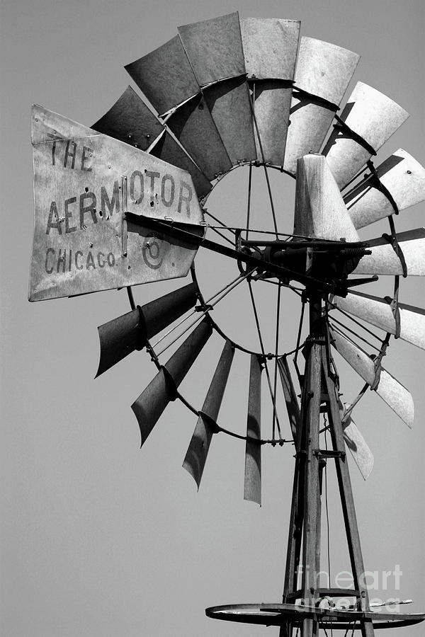 Griculture Photograph - Aeromotor by Alan Look