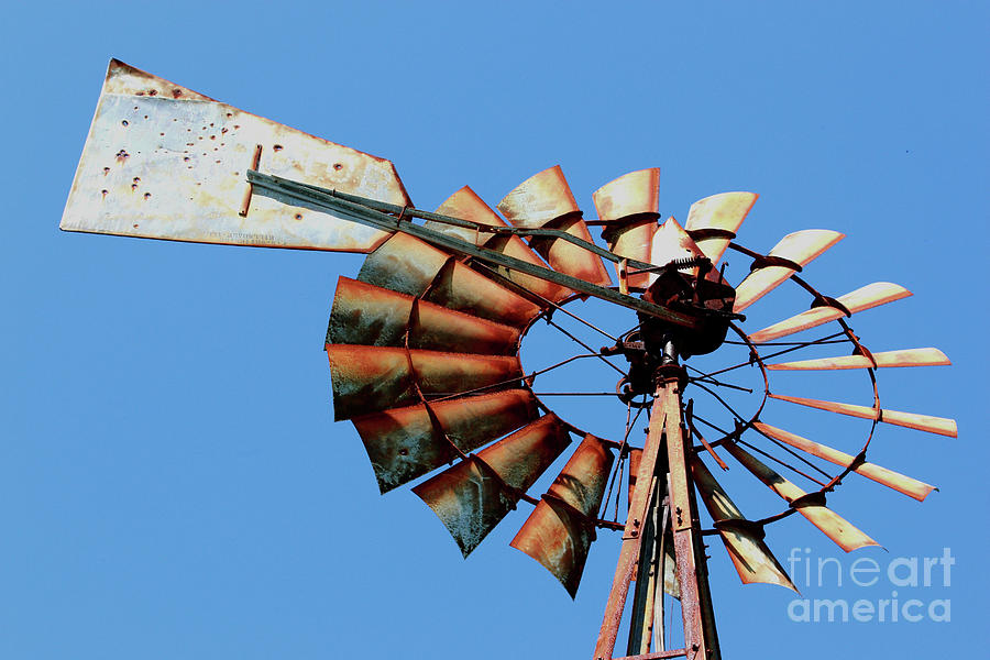 Agriculture Photograph - Aeromotor In Color by Alan Look