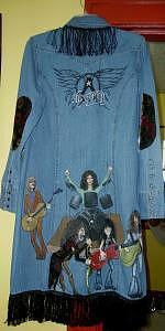 Aerosmith Painting - Aerosmith Rocks Tribute Jacket by Janet Gioffre Harrington