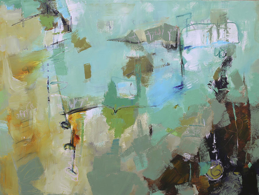 Abstract Painting Painting - Afflable by Elizabeth Chapman