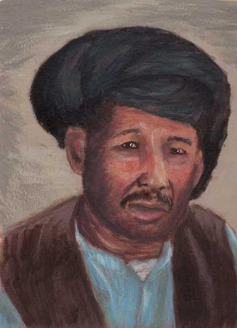 Afghanistan Man 2 Painting by Janet Couture