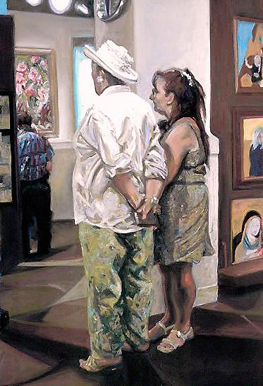 Aficionados Painting by Cameron Hampton P S A