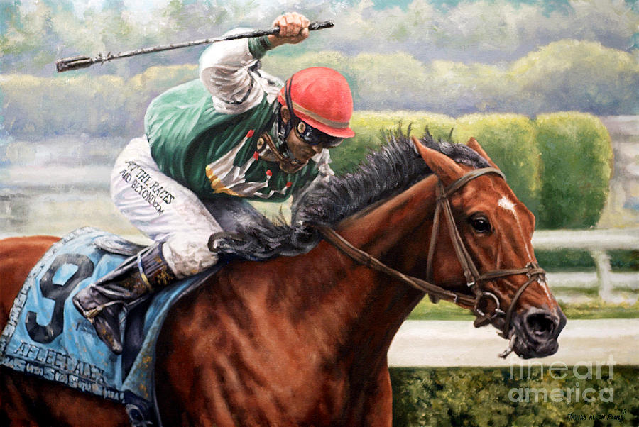 Derby Painting - Afleet Alex by Thomas Allen Pauly