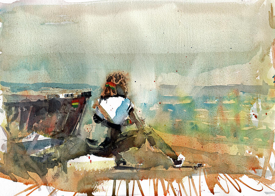 Watercolor Painting - Africa Beyond The Frame by Gaston McKenzie