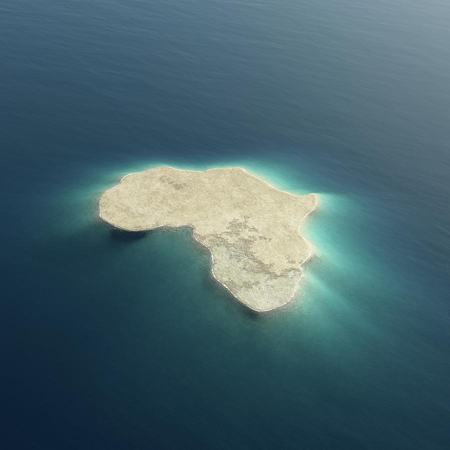 Africa Conceptual Island Design Photograph