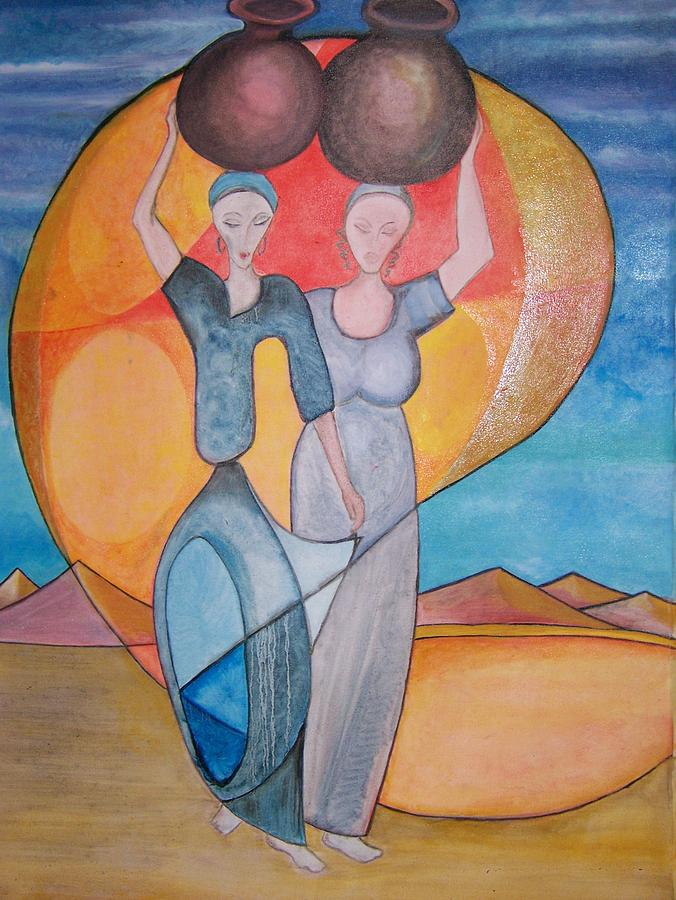 African Women Painting - Africa by Ida Hes