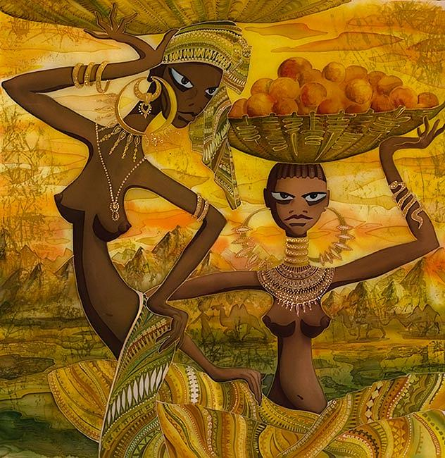 Impressionism Painting - africa by  Kulenjonok Lilia