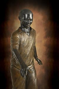 African American Sculptures Sculpture - African American Father by Tom White