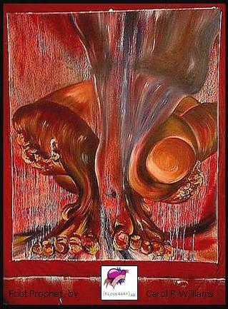 Figure Painting - African American Foot Prophet by Carol Rashawnna Williams