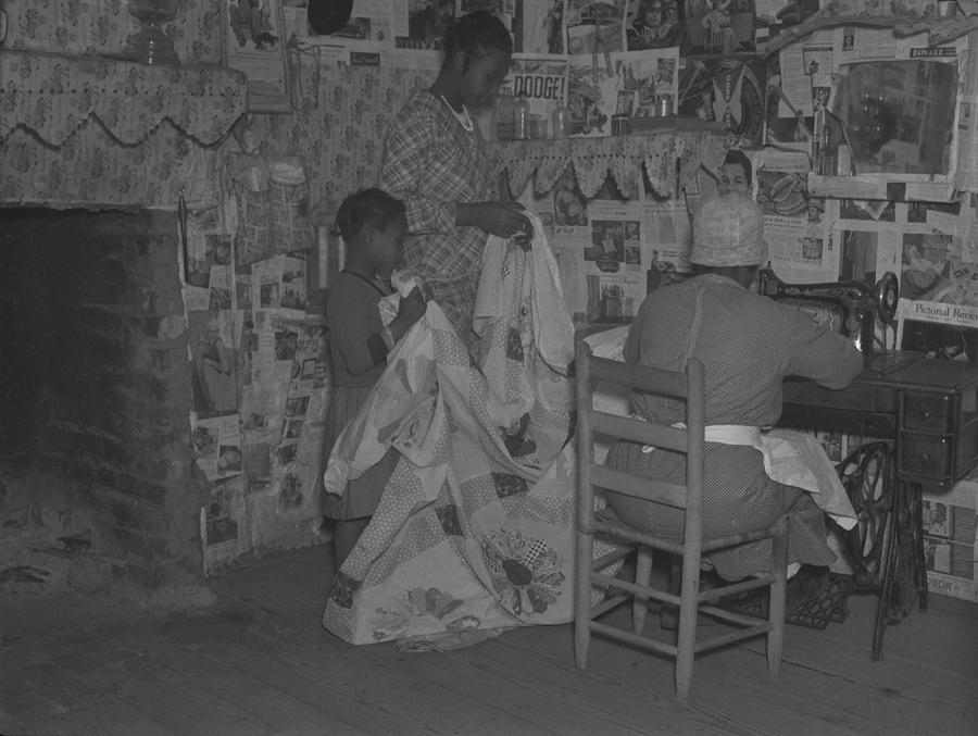 History Photograph - African American Mother Is Assisted by Everett