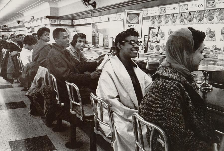 History Photograph - African Americans Sit In Protest by Everett