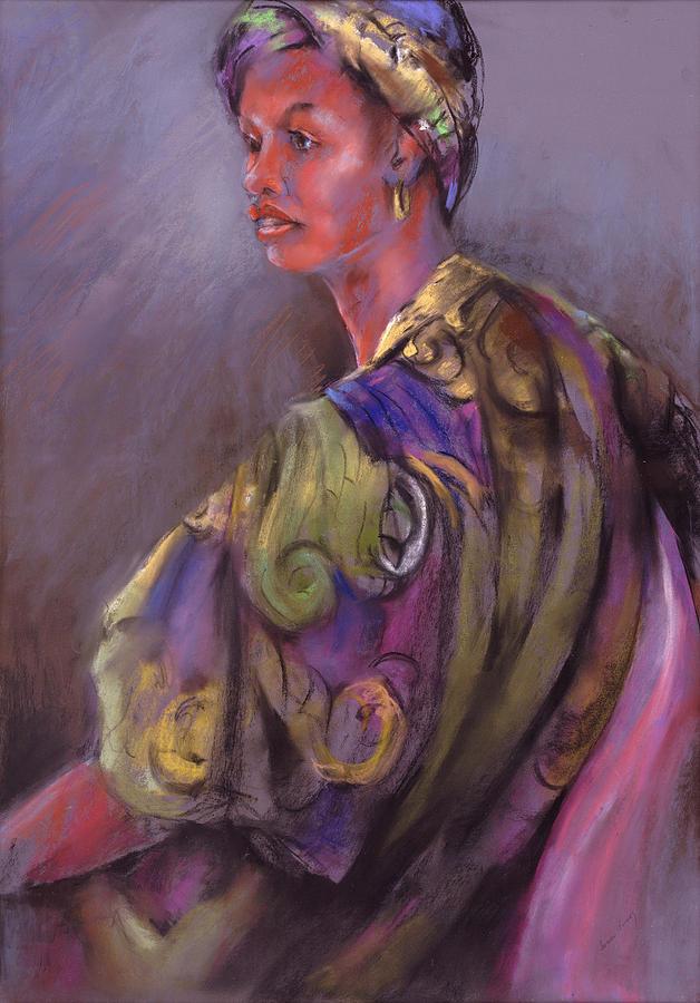 African Matron Painting - African Beauty by Joan  Jones