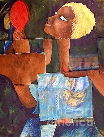 African Blonde Painting by Veroniccah Muwonge