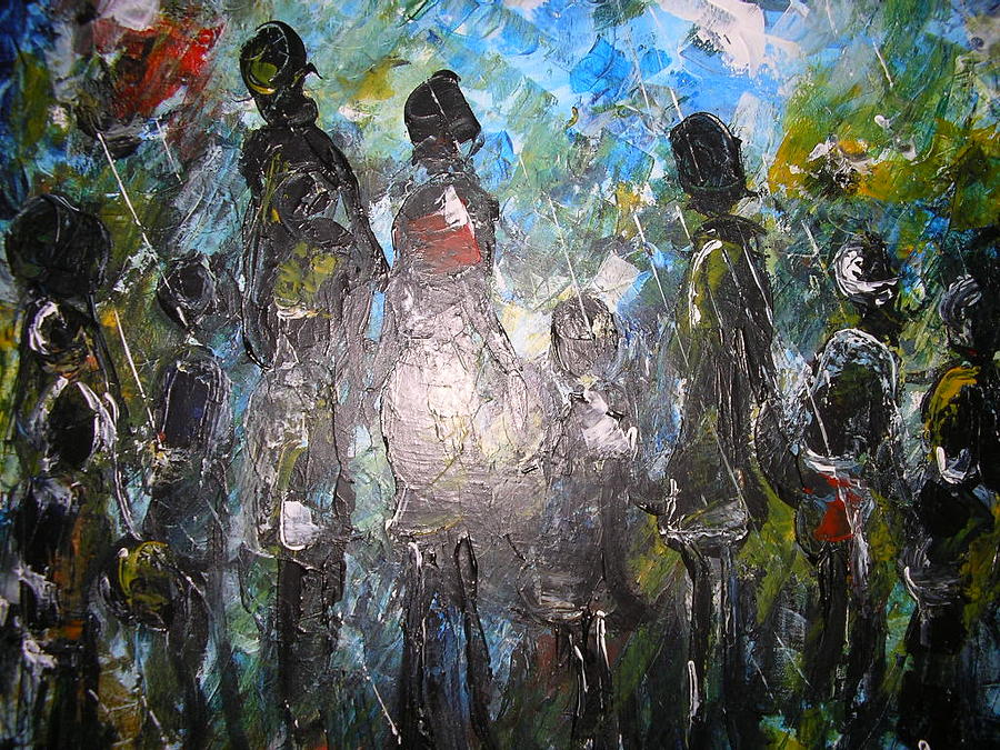 Pappy Painting - African Bride Price by Muheme BISIMWA