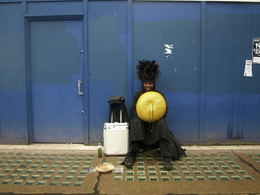 African Busker In Brighton Photograph by Lionel Pretorius