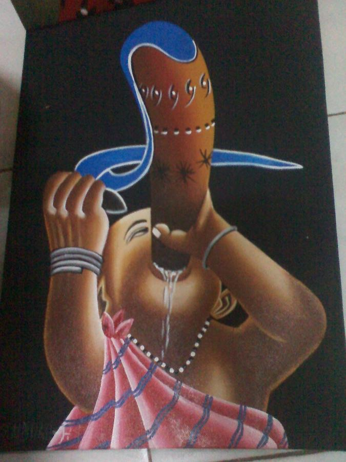 African Culture Drawing by Amos Murigi