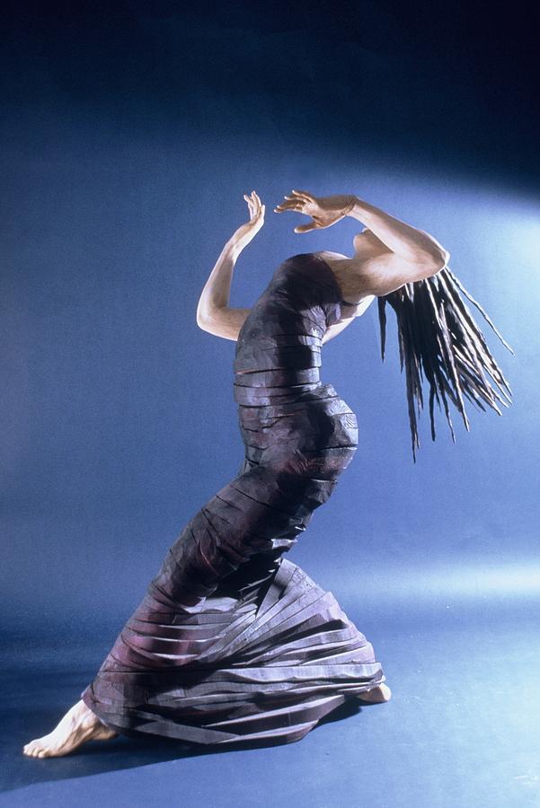 Dance Sculpture - African Dancer Left View by Gordon Becker