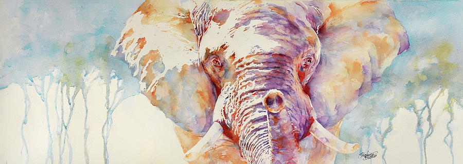 Elephant Painting - African Elephant _ The Governor by Stephie Butler