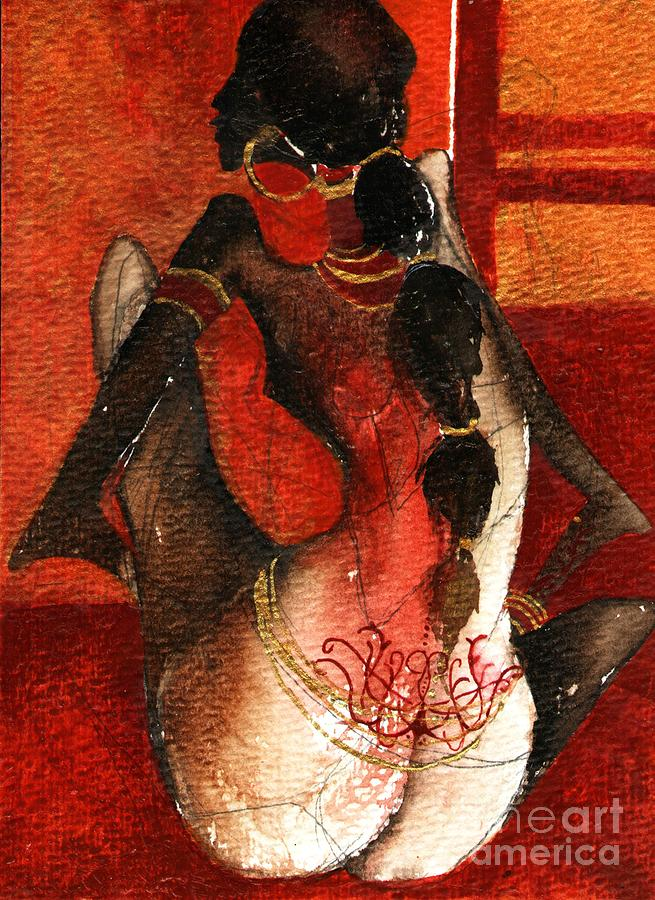 Africa Painting - African Girl by Maya Manolova