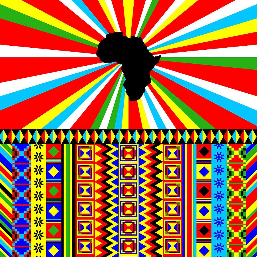 Kente Cloth Design | African Kente Cloth And Adinkra Pattern Digital Art By Cynthia Manor