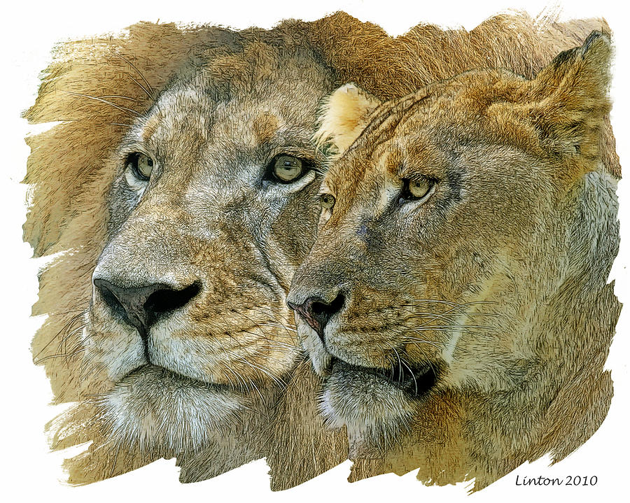 African King And Queen Wall Art