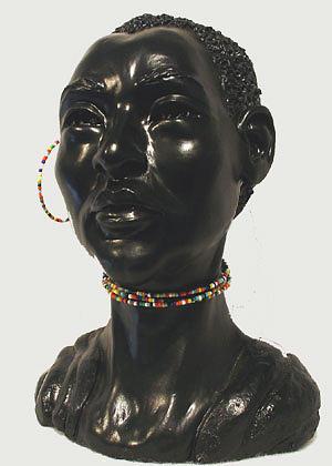 Sculpture Sculpture - African Lady by Tina Hariu