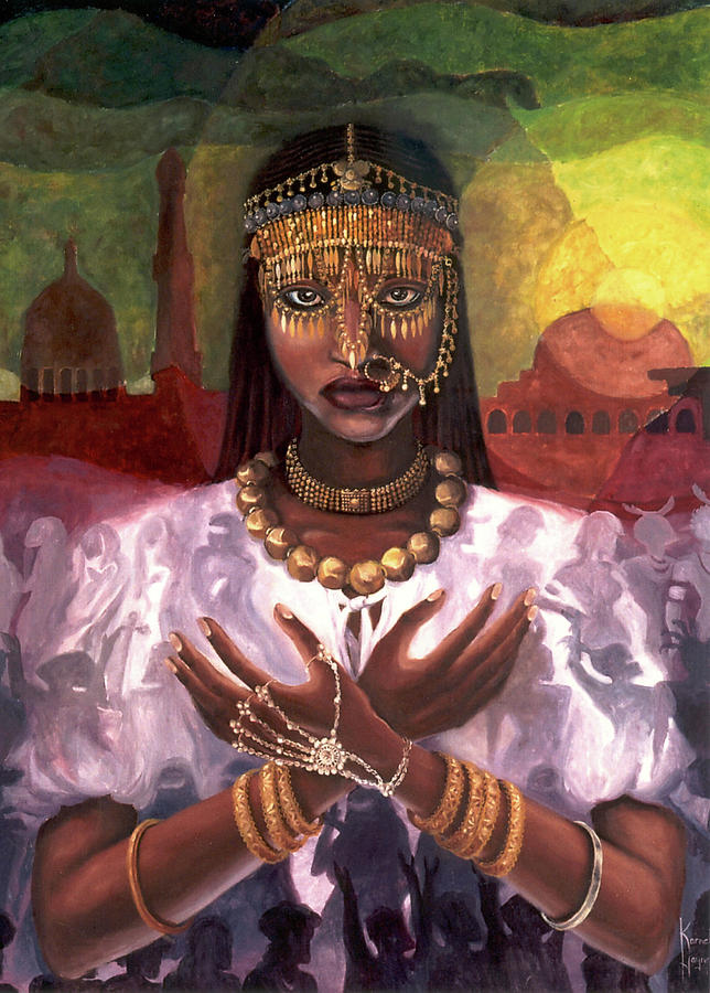 African Painting - African Majesty by Karmella Haynes