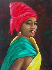 African Modal Painting by Romeo Downer