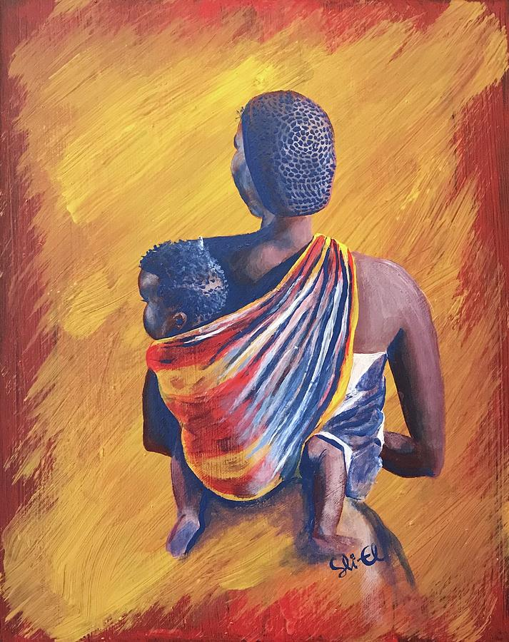 African Mother and Son by Sean Linell Ivy-El