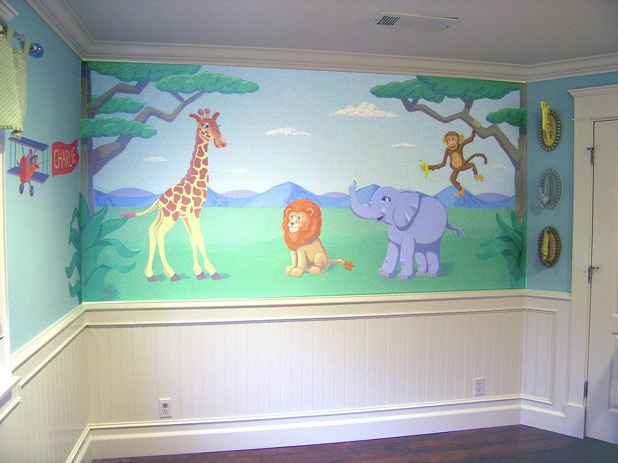 African mural for boys room san fernando valleyca painting for African mural painting
