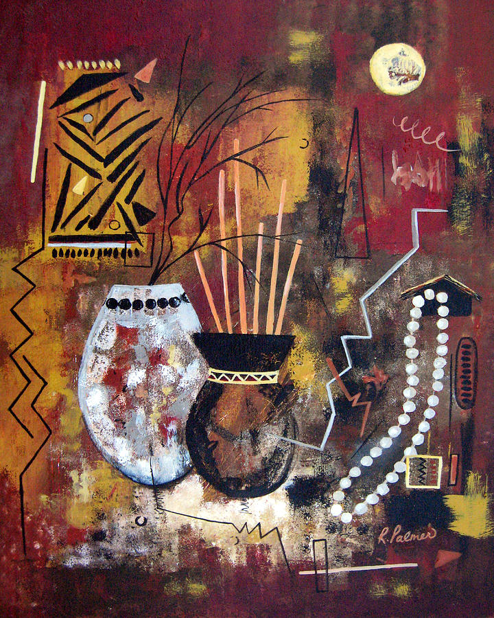 Abstract Painting - African Perspective by Ruth Palmer