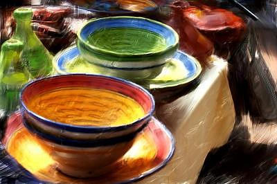 African Pottery Mixed Media - African Pottery by Jae Gregory