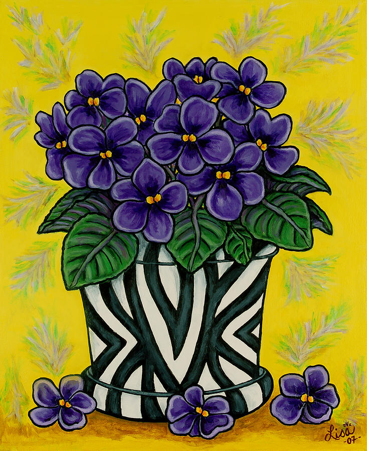 Violets Painting - African Queen by Lisa  Lorenz