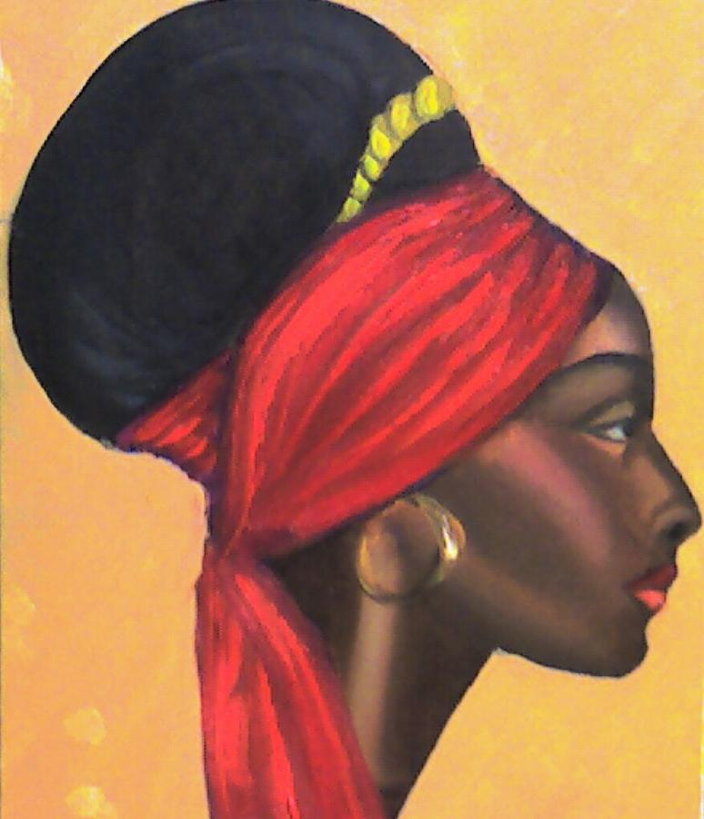 African Queen Painting By Peter Sparks