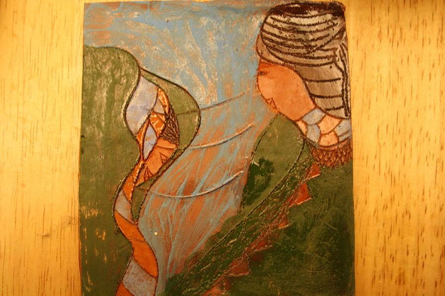 Jesus Ceramic Art - African Respect - Tile by Gloria Ssali