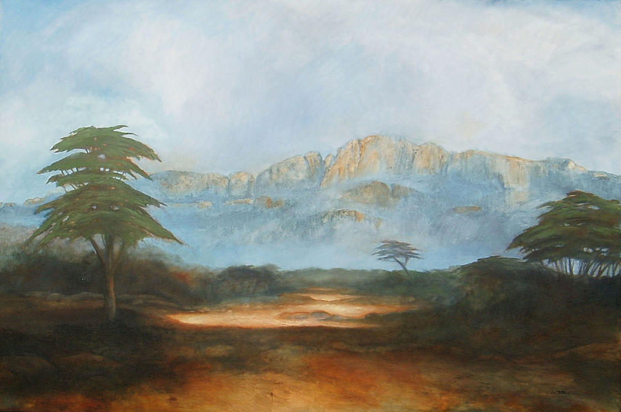 Landscape Painting - African Riverbed by William Stanton