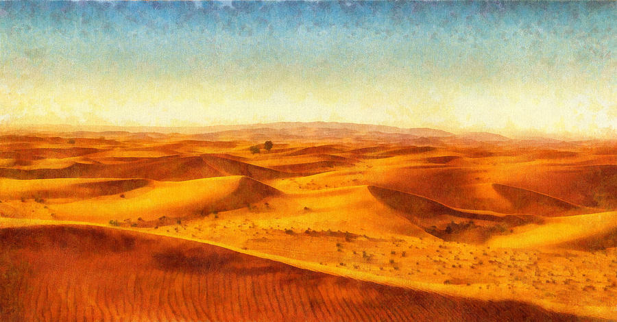 African sand dune art painting sand dunes painting by wall art africa painting african sand dune art painting sand dunes by wall art prints sciox Image collections