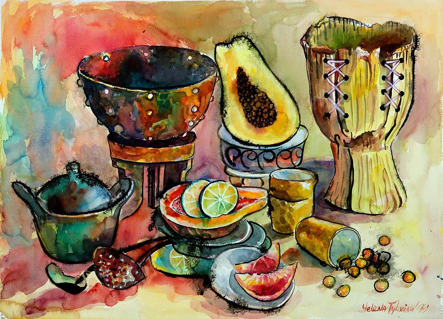 Life Painting - African Still Life by Yelena Tylkina