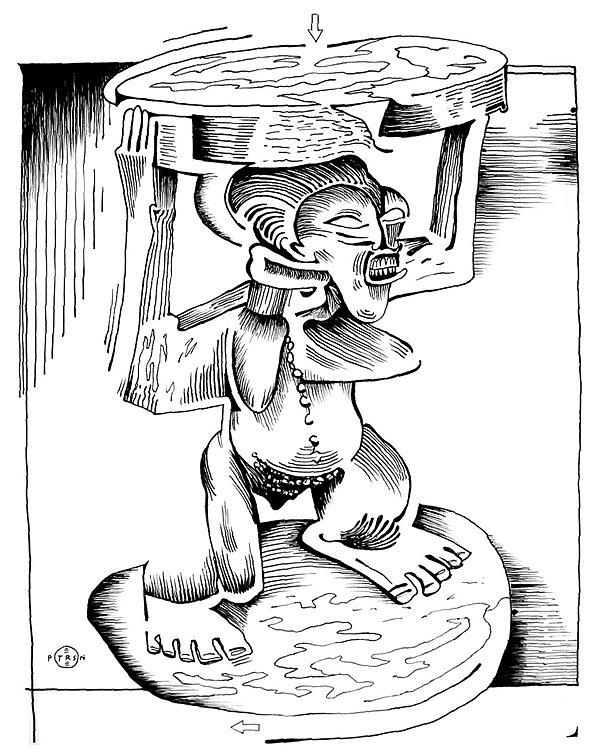 African Drawing - African Stool by Gary Peterson