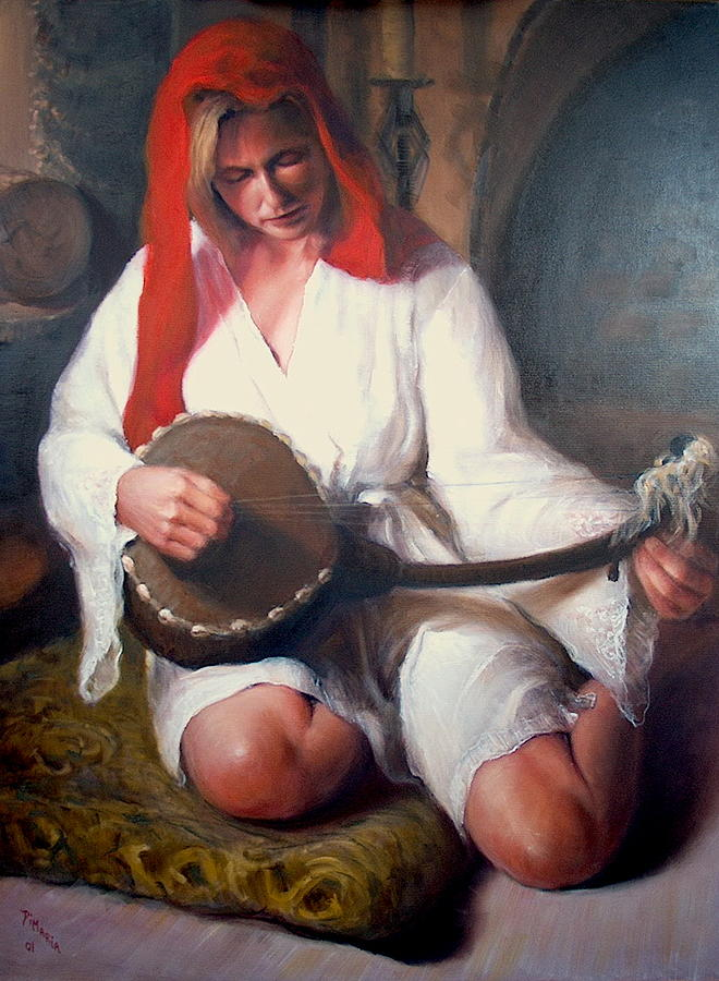 Realism Painting - African Strings  1 by Donelli  DiMaria