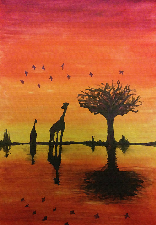 African Sunset by Renata Vincoletto