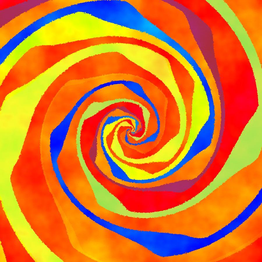 African Swirl Digital Art