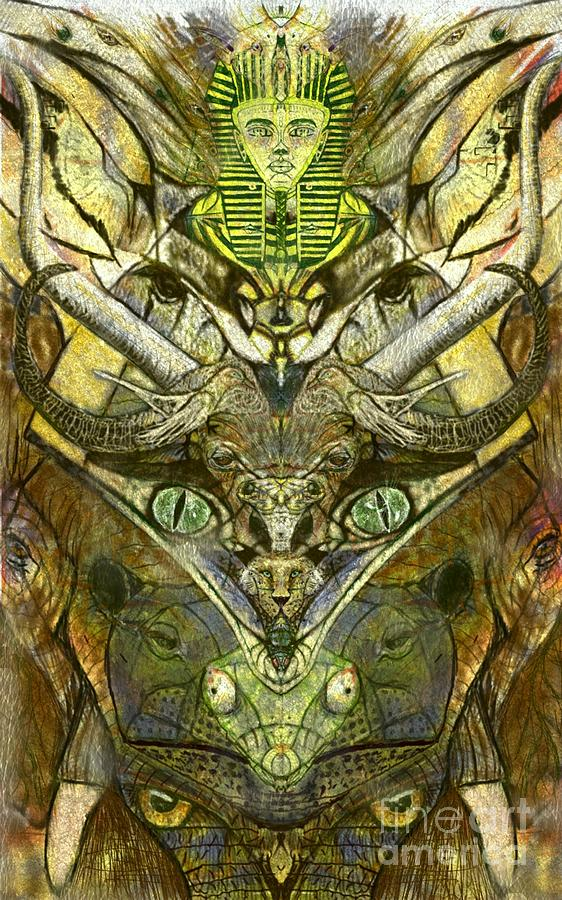 Totem Digital Art - African Animal Totem by Michael African Visions