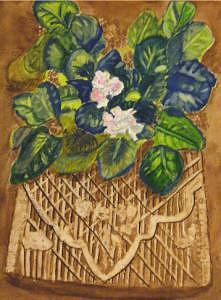 African Violet Painting by Lenore Lowery
