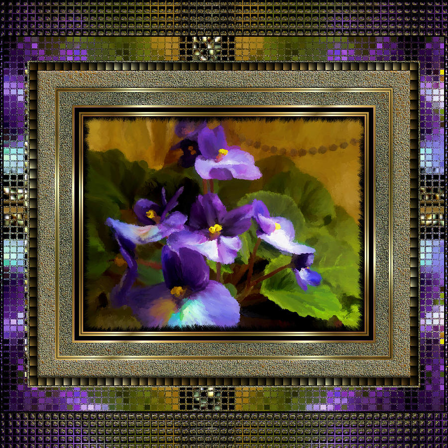 African Violet Painting - African Violet by Susan Kinney