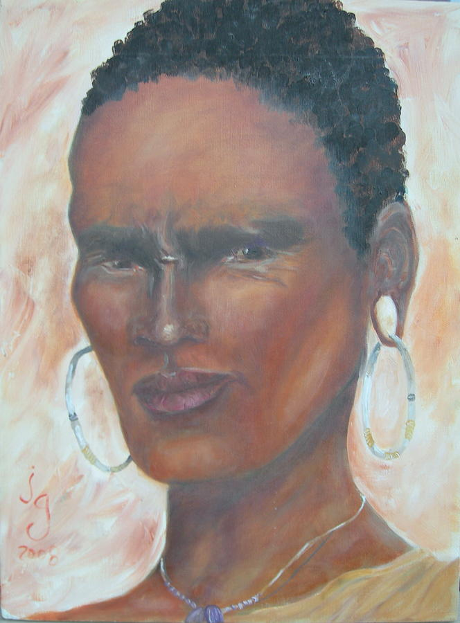 Portraits Painting - African Warrior by Judie Giglio