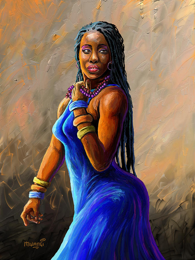 African Woman Painting