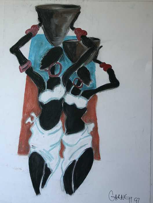 Paintings Painting - African Women by Garnett Thompkins