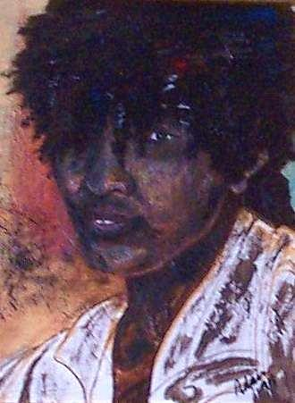 African Youth Painting by Adair Robinson